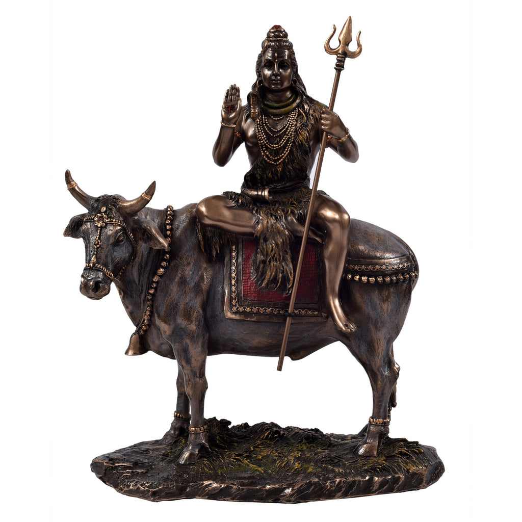 Shiva sitting on Nandi