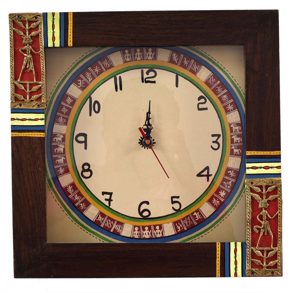 Handicraft Warli Clock