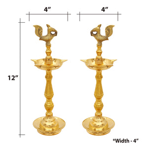 Brass Kerala Fancy Lamps pair