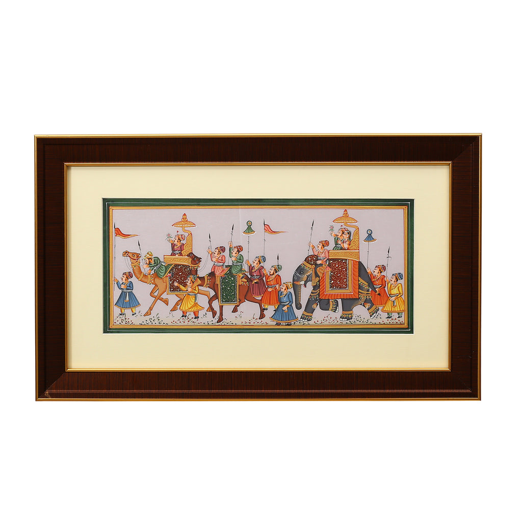 Sp 7x14 Rajasthani Savari paintings ragaarts.myshopify.com