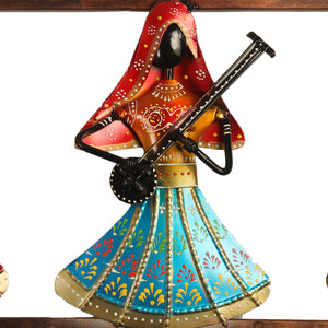 Iron Wall Hanging 3 Lady Musical Instrument Key Holder
