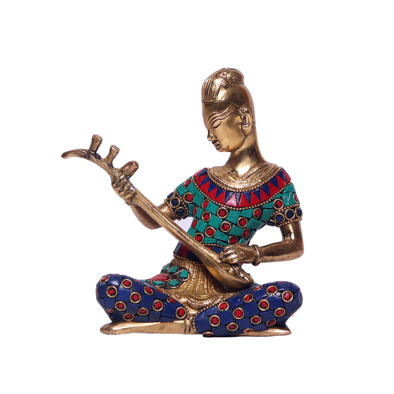 Musical Man with Stone Finish Idols
