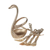 Metal Swan With 6 Spoon