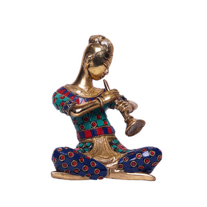 Brass Musical Man with Stone Finish