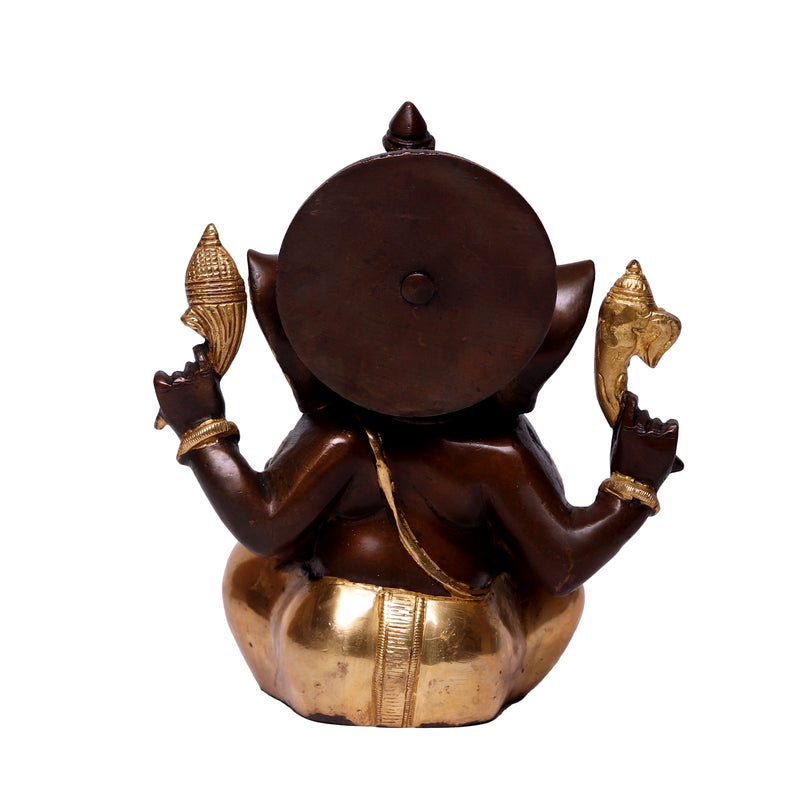 Antique Sitting Ganesha (backside)