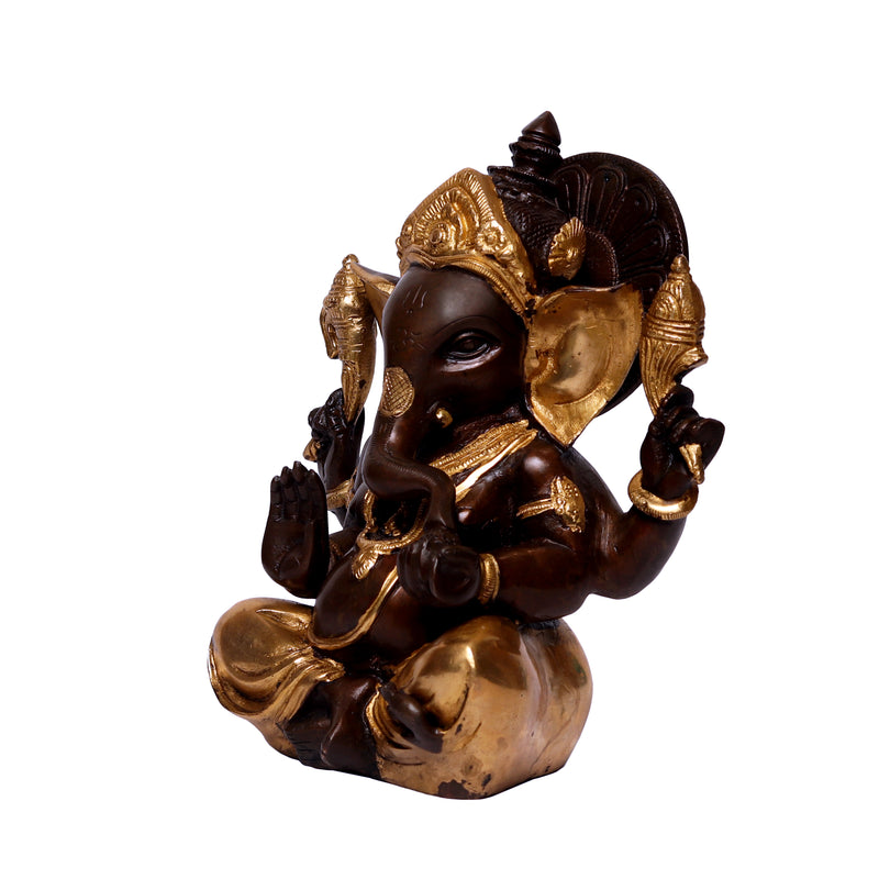 Sitting Ganesha with Antique Finish
