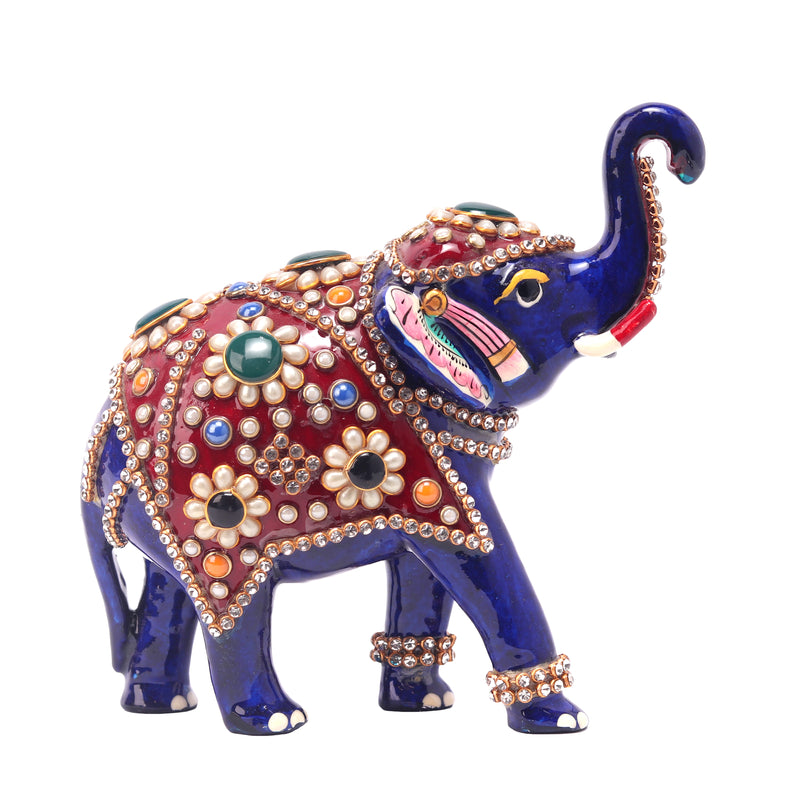 Standing Elephant With Stone Work
