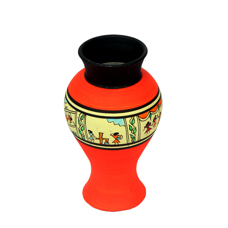 Terracotta Flower Vase With Paint