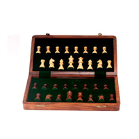Wooden Chess Board With Coin