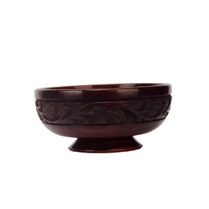 Wooden Craving Bowl