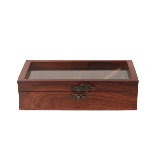 Wooden Masala Box With Spoon