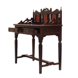 Wooden Study Table With Dhokra Arts