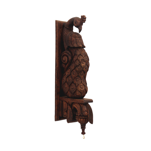 Waghai Wood wall Hanging Peacock Bracket