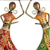 Iron Wall Hanging 2 Dancing Lady Key Chain Holder