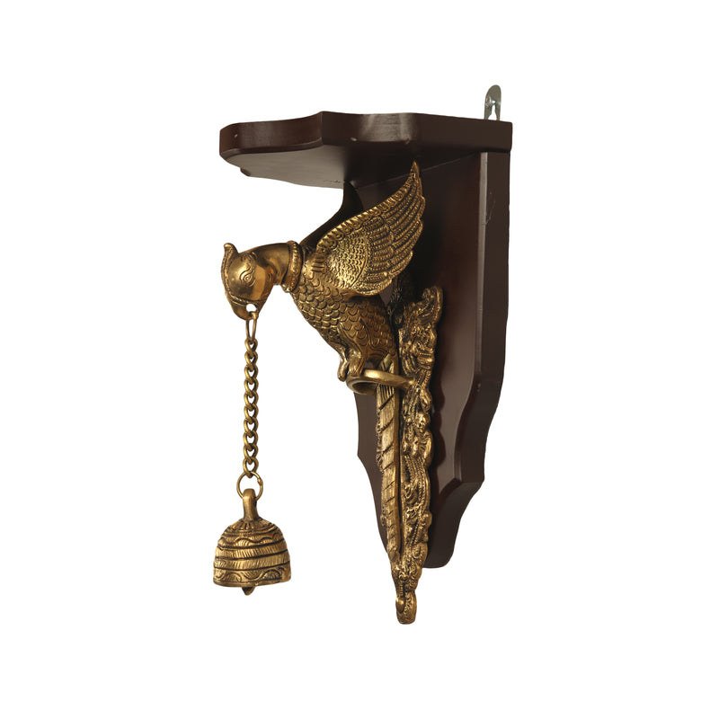 Brass Wall Hanging Parrot With Bell