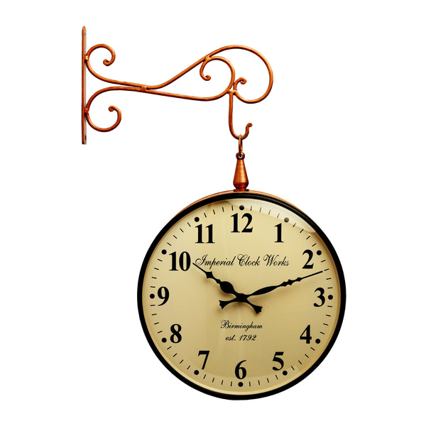 Wall Hanging Double Side Station Clock