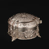 White Metal Round Box