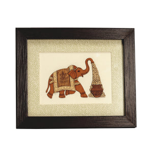 Wooden Carving Elephant Frame