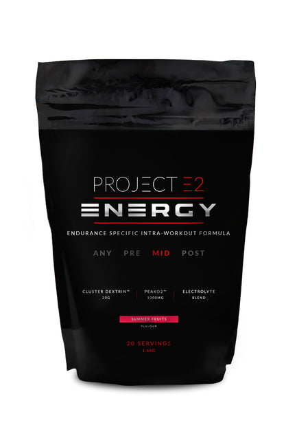 Project E2 Energy Powder, 1.6kg – Orange/ Summer Fruits