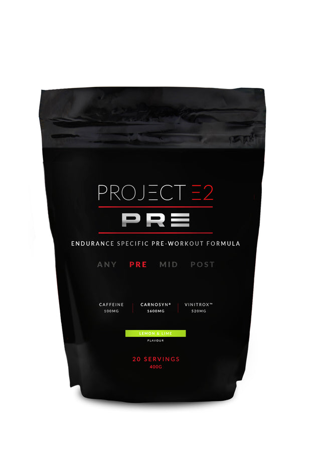 Project E2 Pre-Workout Powder, 400g – Red Fruits/Lemon & Lime