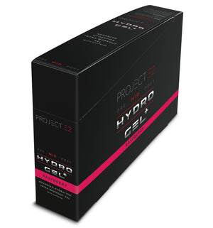 Project E2 Hydro Gel Plus, 15 x 60g - 50mg Caffeine - Raspberry