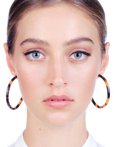 Odessa Hoops - Honey Tortoise Shell | PRE-ORDER - Stile Forma