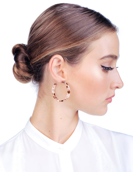 Camille Flat Hoops - Blush - Stile Forma