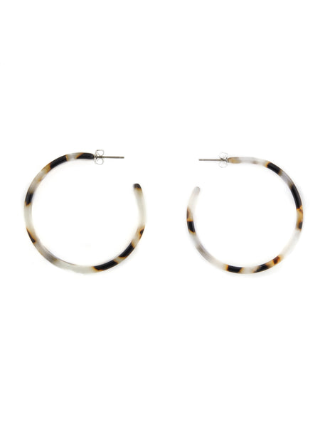 Camille Flat Hoops - Oyster Pearl - Stile Forma