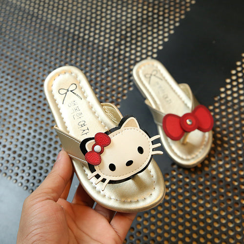 Hello Kitty Cartoon New girl Flip Flops Lovely House Sandals