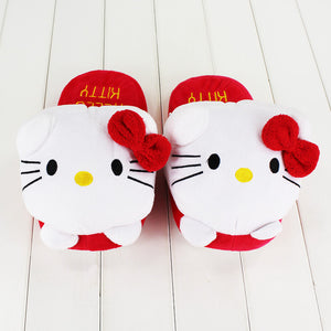 Cute Hello Kitty Slipper Winter Women Shoes