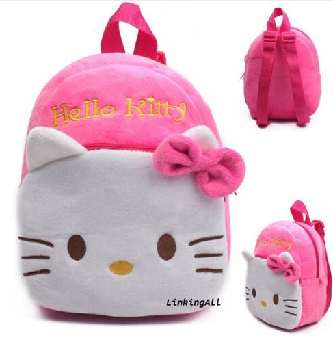 High Quality Pink cute Hello Kitty Plush Cartoon Toy Backpack minnie Girl Character Gift For Kids pikachu toys