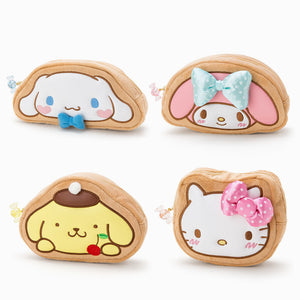 Japanese Anime Hello Kitty My Melody Cinnamoroll Dog Pudding Dog Cosmetic Bag Plush Soft Mini Bag Pencase Soft Toy For Girls