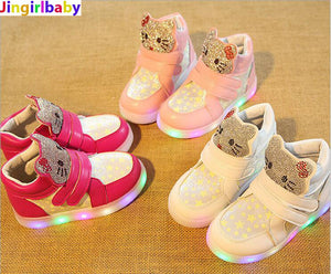 Kids Casual LED Shoes Girls Glowing Sneakers