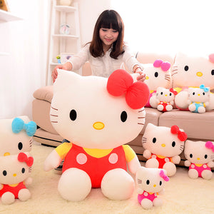 New hello KT cat plush toy doll birthday gift  sitting height 25cm hello kitty plush toys hello kitty toys doll for childre