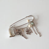 Thimble Brooch of Luck (Silver Color)