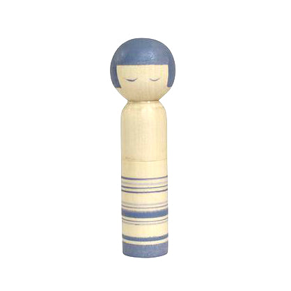 Cohana Kokeshi Doll Pincushion -- Blue