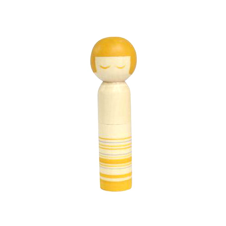 Cohana Kokeshi Doll Pincushion -- Yellow