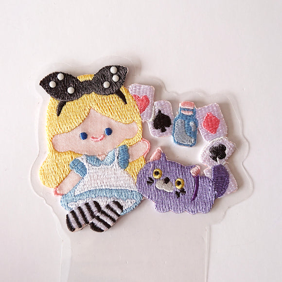 Iron-on/Stick-on Patch-- Alice in Wonderland