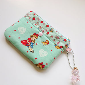 Little Miss Zip Pouch - Turquoise