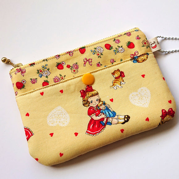 Little Miss Zip Pouch - Yellow
