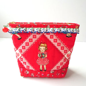 Little Dolly Zip Pouch - Red