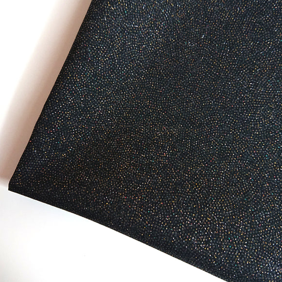 Solid Colour Fabric with Glitters -- Black