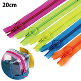YKK Neon Transparent Zipper Bundle (20cm)