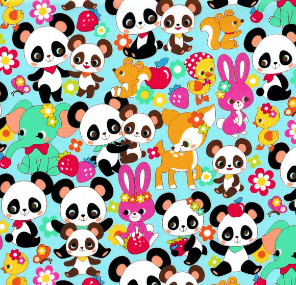 Panda and Friends (blue)