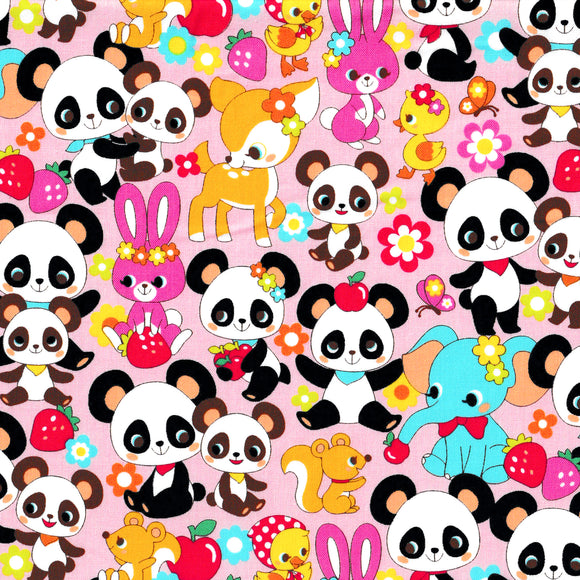Panda and Friends (Pink)