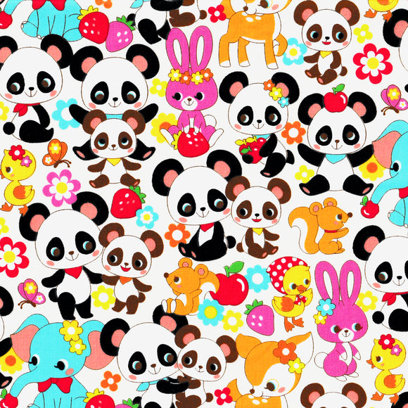 Panda and Friends (white) (1/2 meter)
