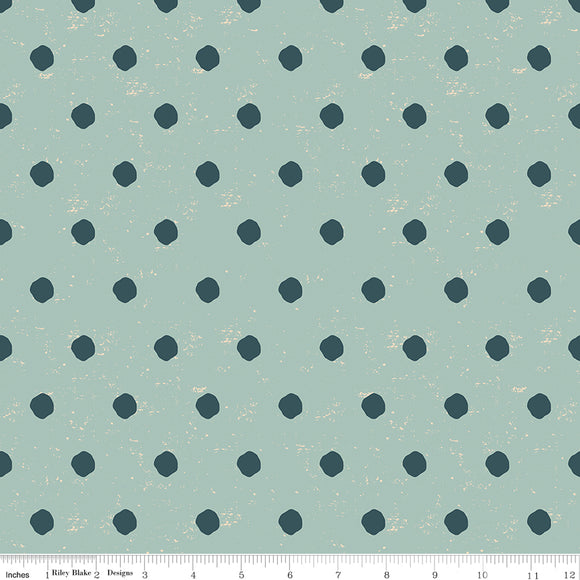 Strawberry Jam -- Dotty Dots (teal)
