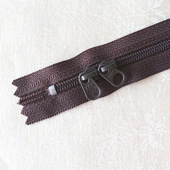YKK Candy Color Zipper -- Brown(50cm/20in)