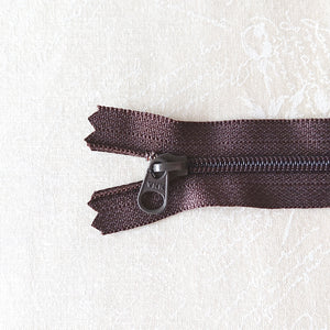 YKK Candy Color Zipper -- Brown(20cm/8in)