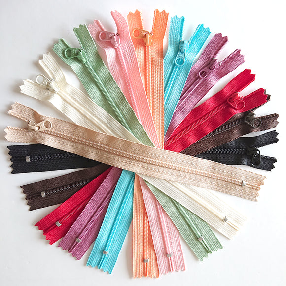 YKK Candy Color Zipper -- Bundle(15cm/6in)